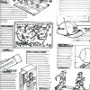 Sketch sample of inside direct mail catalog pages ideation