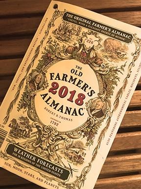 Farmer's Almanac 2018